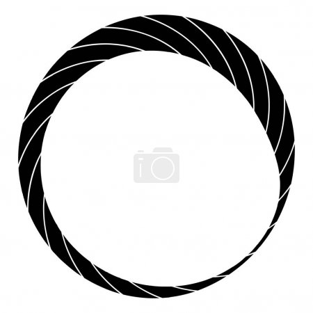 Cyclical circle, helix, volute element. Concentric...