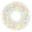 Spiral effect of dashed circular, concentric, and ...