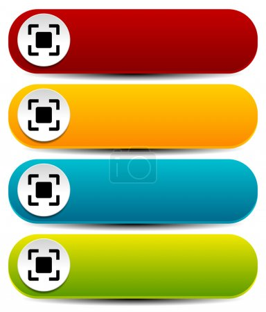 Rounded horizontal buttons in several colors with simple target