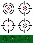 Crosshair reticle target mark set 4 different cross-hairs