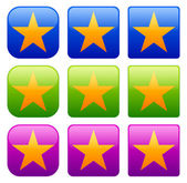 Set of simple star icons