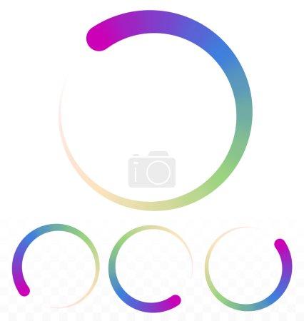 Preloader, circular shapes set