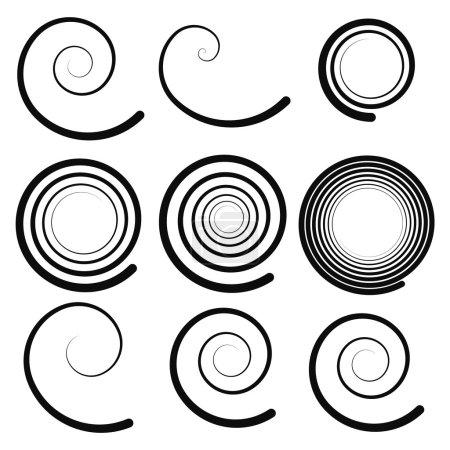 Spiral elements set
