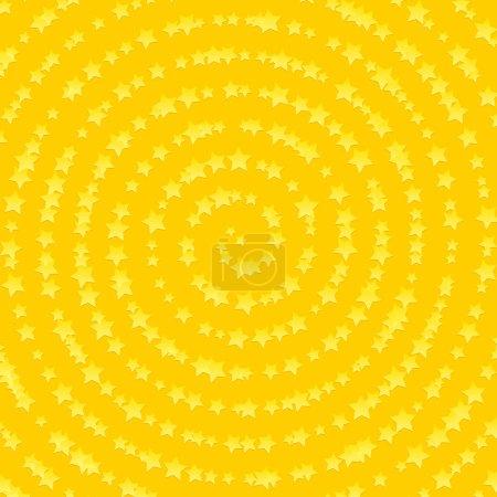 Stars in spiral composition background