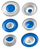 Abstract 3d shapes - rotation symbols