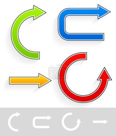 Colorful, bright arrows set. vector illustration i...