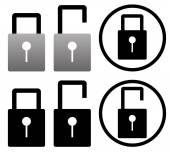 Padlock icons on white