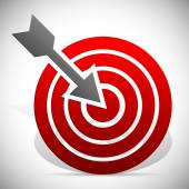 Arrow hitting target sign