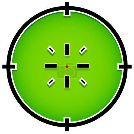 Crosshair, reticle, target sign