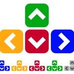 Flat cursor symbols, arrows icons. vector illustra...
