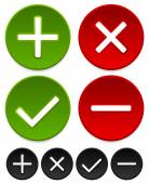 Checkmark and cross graphics set