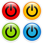 Glossy power button icon set
