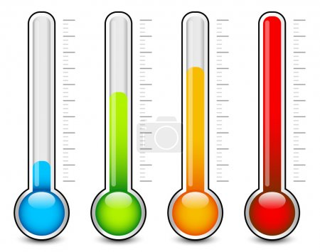 Thermometer colorful  graphics