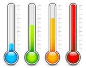 Thermometer colorful   vector  graphics