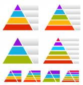 Triangle pyramid charts