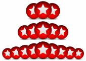 Red stars star balls star circles background Star composition vector illustration
