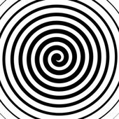 Volute spiral concentric lines pattern