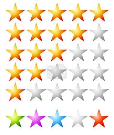 Rating, estimation stars set