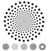 Dots circles pattern