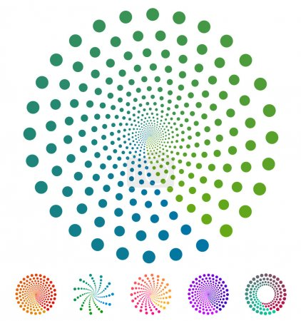 Illustration for Dots pattern. Vector elements made of circles. Vector design elements, circular dotted symbols, motifs - Royalty Free Image