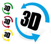 3d icons with arrows