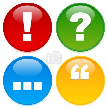 punctuation mark icons