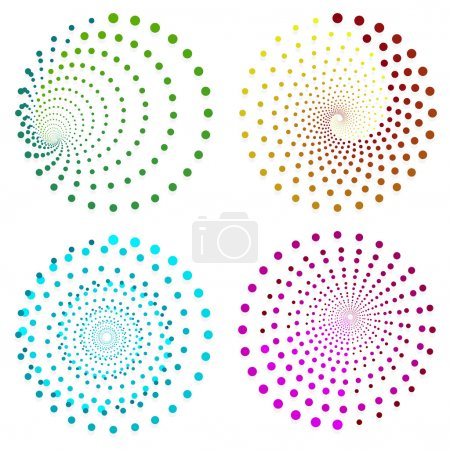circle abstract elements set