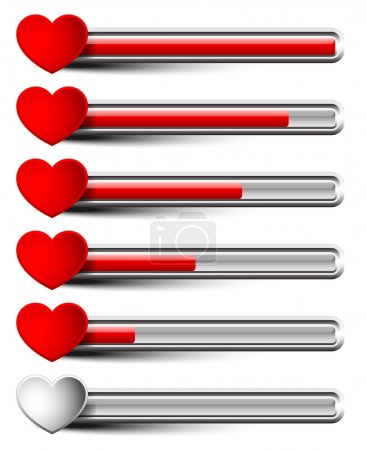 Rating elements with hearts