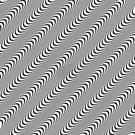 Abstract, undulating lines pattern