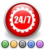 24 7 badge for repair or manufacturing
