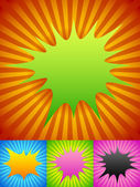 Abstract color rays patters backgrounds set vector illustration
