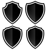 Different shield shapes icons