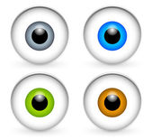 Stylish eyeballs eyes icons