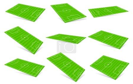 Soccer fields set