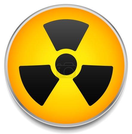Radiation symbol on circle
