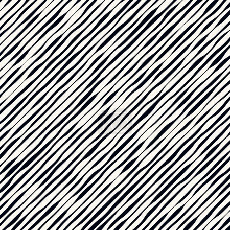 Illustration for Slanted wavy lines. Modern, minimal vector pattern. vector illustration - Royalty Free Image