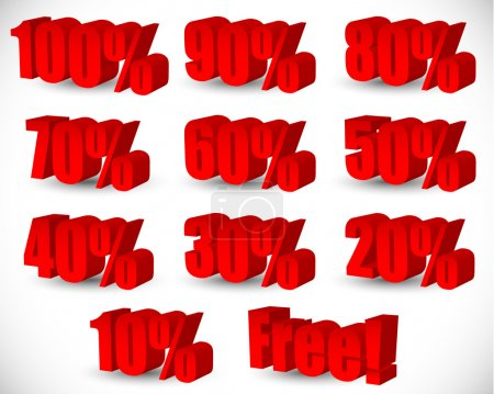 3D Percentage set.
