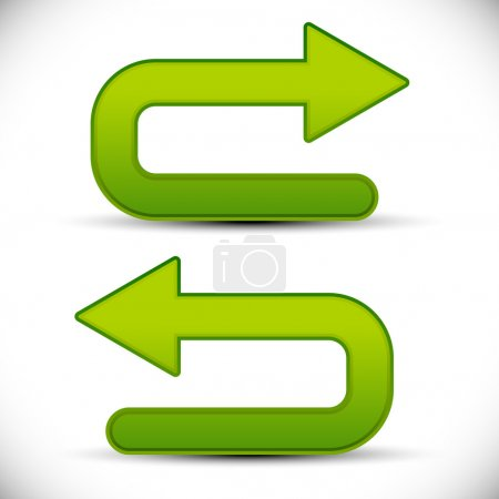 U shaped arrows icons. isolated on white backgroun...