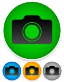 Eps 10 vector illustration of Video camera symbol set icon or colorful backgrounds