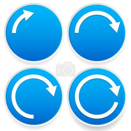 Circular arrows Blue