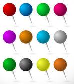 Push pin thumbtack set
