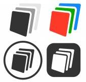 Stack sheets of paper icons