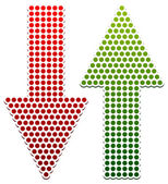 Eps Vector Illustration of Dotted Up Down Arrows