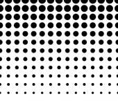 Horizontally Seamless  Dotted Pattern