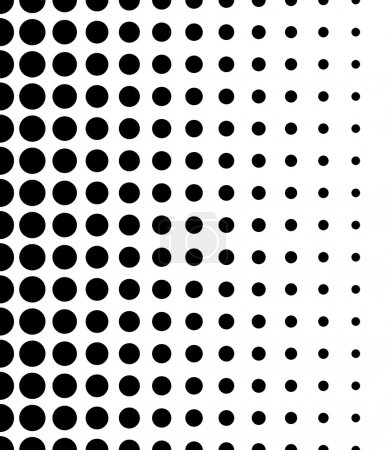 Black and White Dotted Pattern