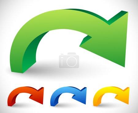Bent Colorful Arrow Elements