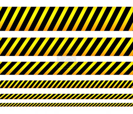 Illustration pour Bandes jaunes répétables, bandes, bandes. Vecteur, modifiable. (Peut être répété horizontalement) - image libre de droit
