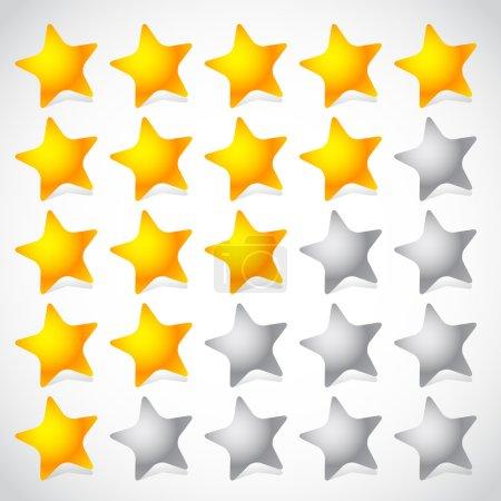 5 star star rating element.