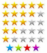 5 star star rating element Vector graphics
