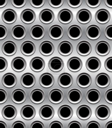 Punched, perforated metal background